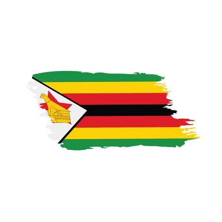 Zimbabwe flag, vector illustration