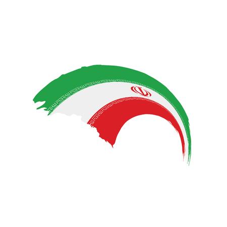 イラン国旗、白い背景にベクトルイラスト 写真素材 - 97055937