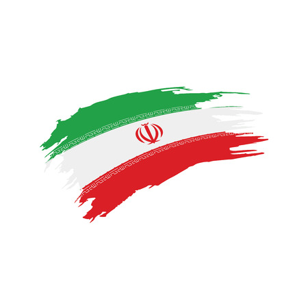 Iran flag, vector illustration