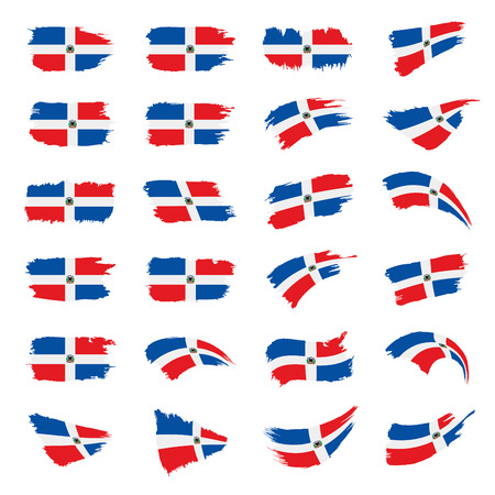 Dominicana flag, vector illustration Stok Fotoğraf