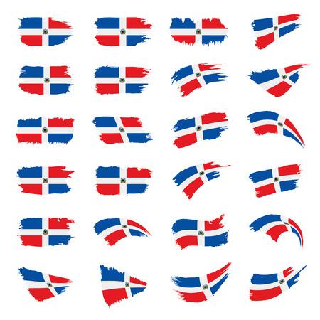 Dominicana flag, vector illustration Stock Photo