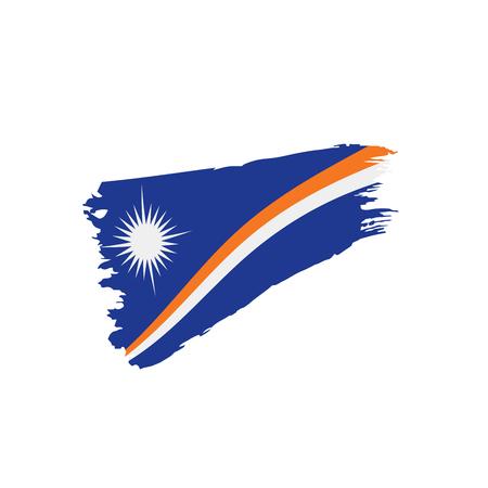 Marshall Islands flag, vector illustration
