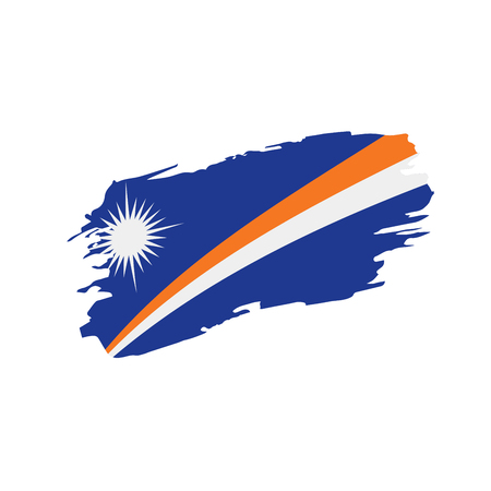 Marshall Islands flag, vector illustration on a white background Illustration