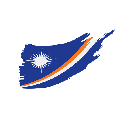 Marshall Islands flag, vector illustration on a white background  イラスト・ベクター素材