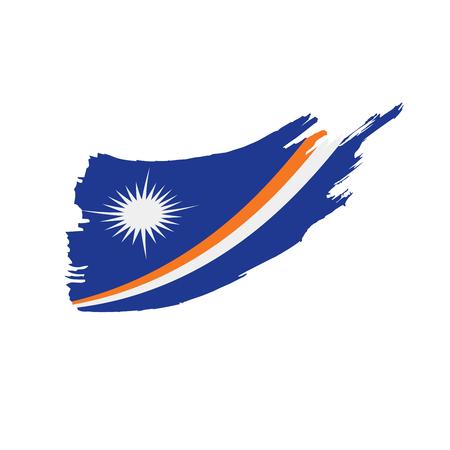 Marshall Islands flag, vector illustration on a white background Illusztráció