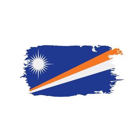 Marshall Islands flag, vector illustration on a white background Иллюстрация