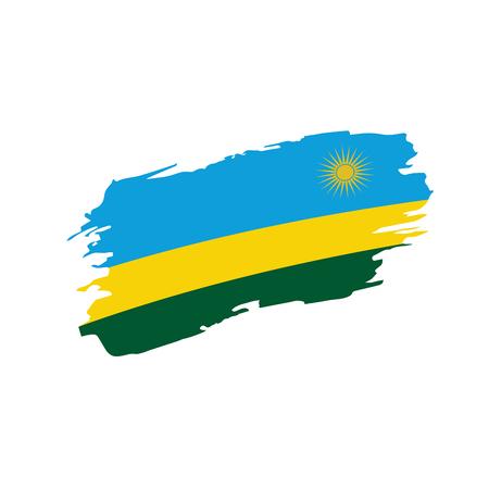 Rwanda flag vector illustration