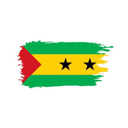 Sao Tome and Principe flag vector illustration