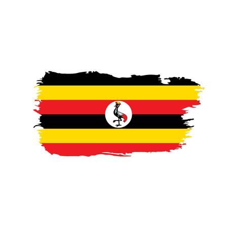Vlag van Oeganda, vectorillustratie