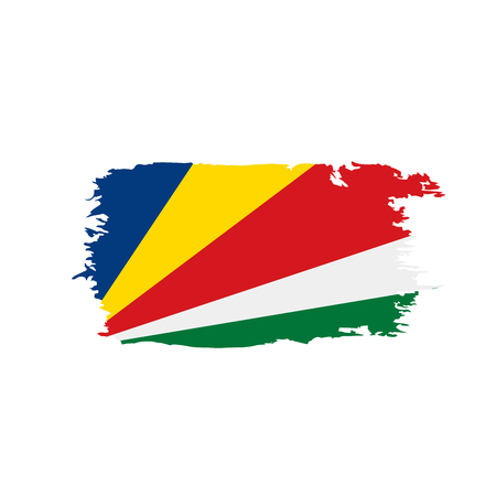 Seychelles Flag Vector Illustration On A White Background