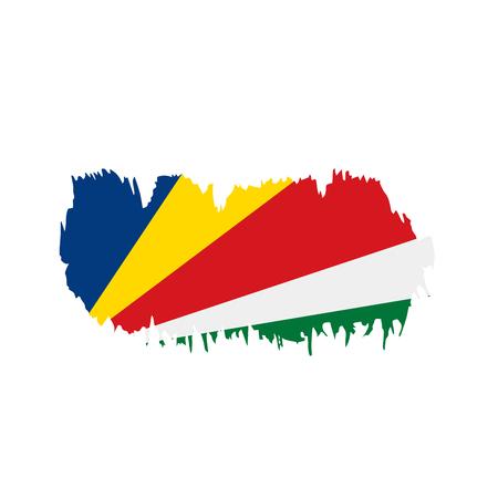 Seychelles flag, vector illustration 向量圖像