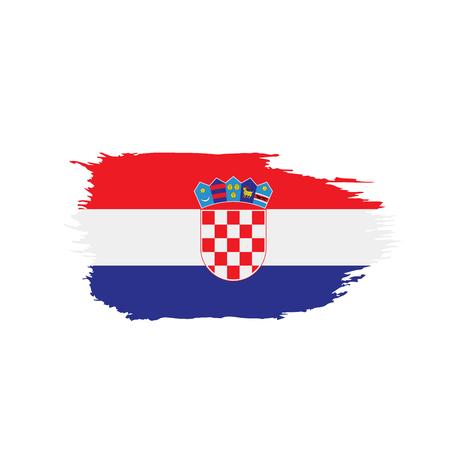 Croatia flag, vector illustration on a white background Stock Illustratie