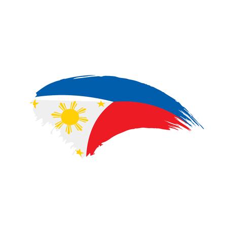 Philippines flag, vector illustration