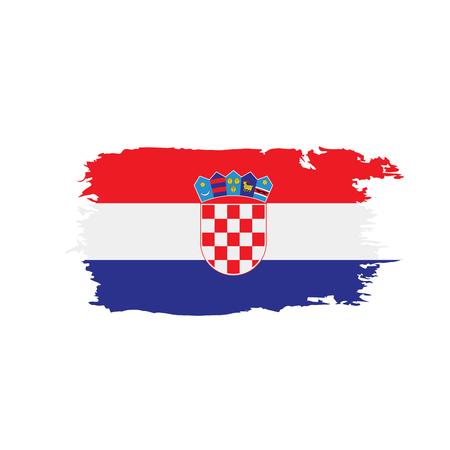 Croatia flag, vector illustration 일러스트