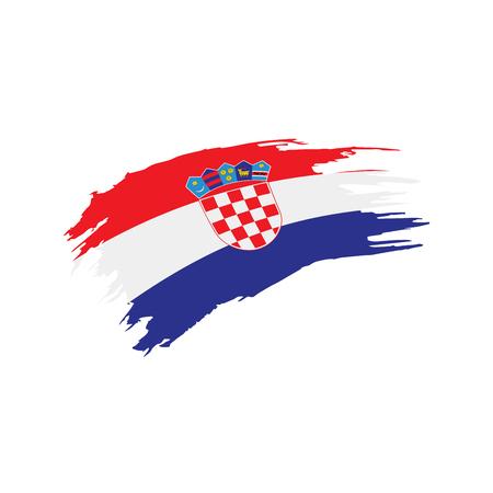 Croatia flag, vector illustration Stock Illustratie