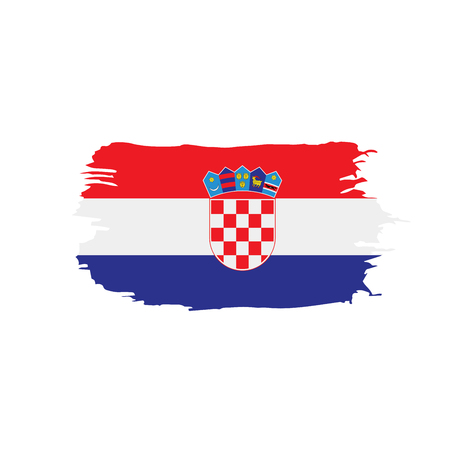 Croatia flag, vector illustration Vectores