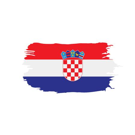 Croatia flag, vector illustration Ilustrace