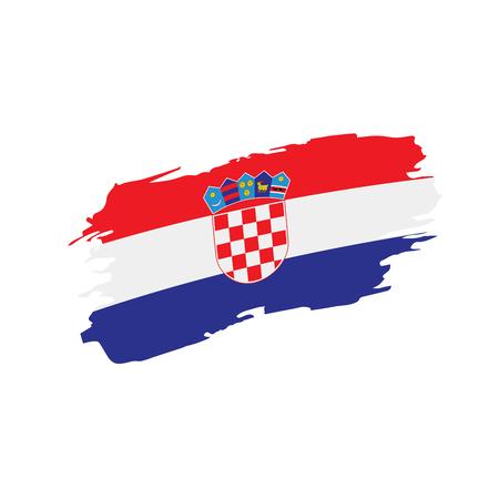 Croatia flag, vector illustration Çizim