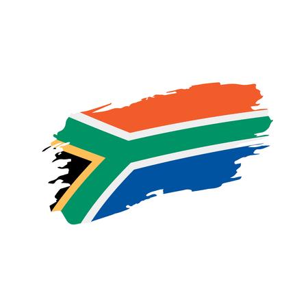Jamaica flag on white background, vector illustration.