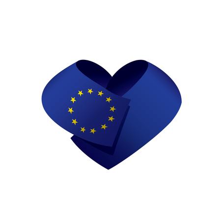 European union flag on white background, vector illustration. Ilustrace