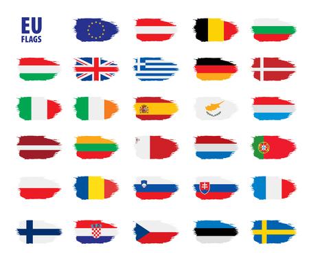 flags of the european union 일러스트