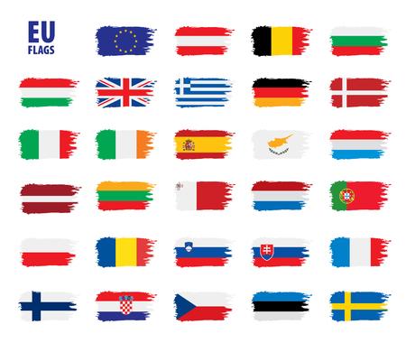 flags of the european union Vettoriali