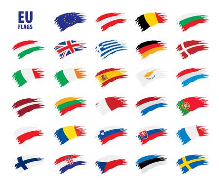 flags of the european union Stock Illustratie