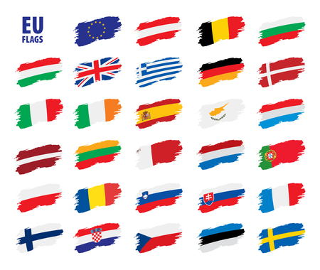 flags of the european union 矢量图像