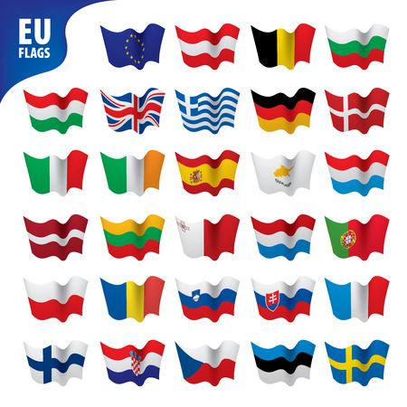 flags of the european union Vettoriali