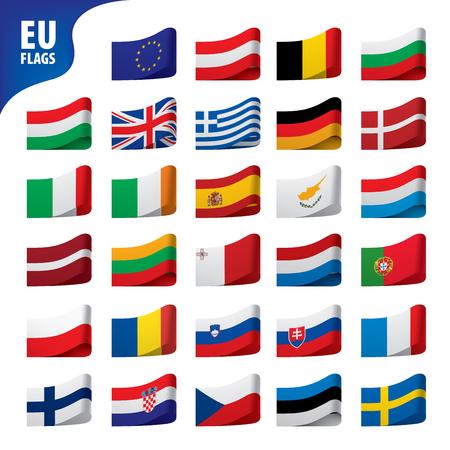 flags of the european union Illustration