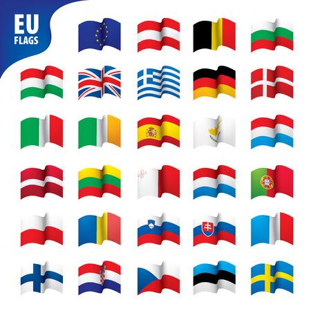 drapeaux de l & # 39 ; union européenne