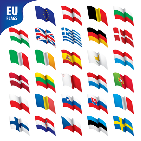 Flags of the european union Vector illustration Illustration