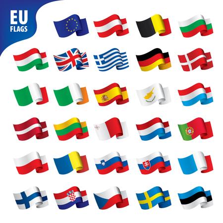 flags of the european union template vector illustration set 일러스트