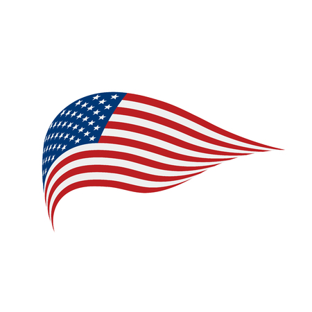 USA Flag isolated illustration.