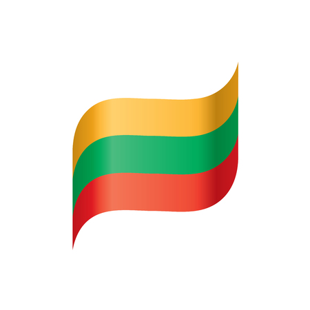 Lithuania flag, vector illustration. Vectores