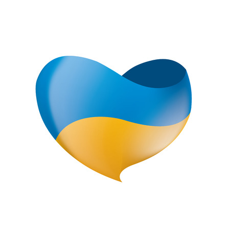Ukraine flag, vector illustration