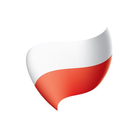 Poland flag, vector illustration on a white background Vettoriali