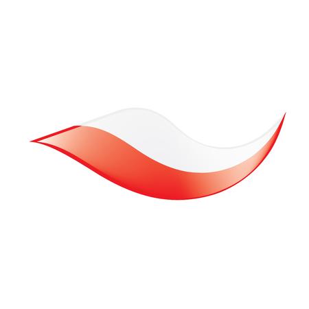 Poland flag, vector illustration