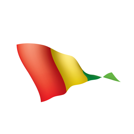 guinea flag, vector illustration