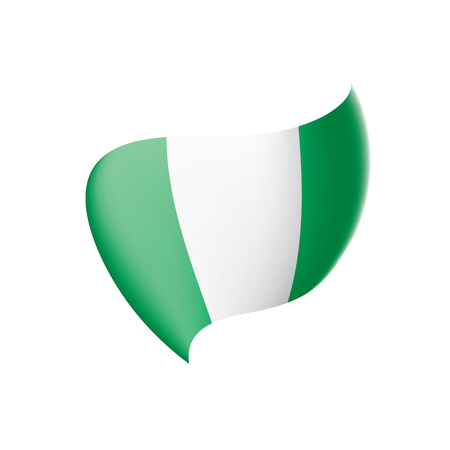 Nigeria flag, vector illustration on a white background 向量圖像