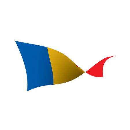 Chad flag, vector illustration