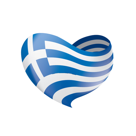 Greece flag, vector illustration Standard-Bild - 98086442