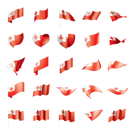 Tonga flag, vector illustration