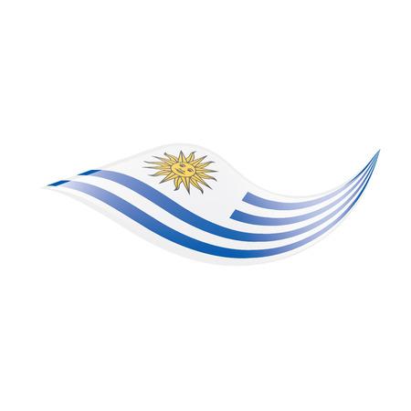 Uruguay flag, vector illustration on a white background
