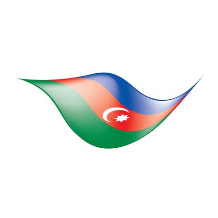 Azerbaijan flag, vector illustration on a white background