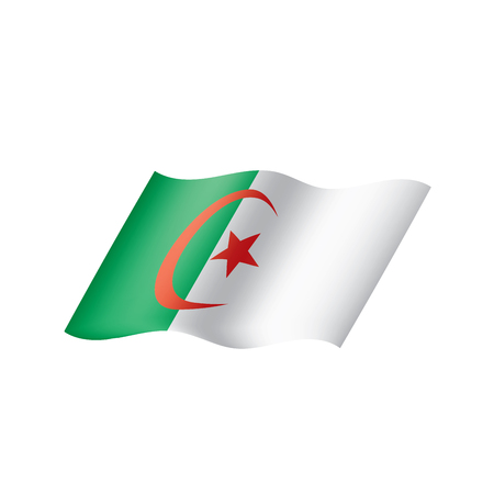 Algeria flag, vector illustration
