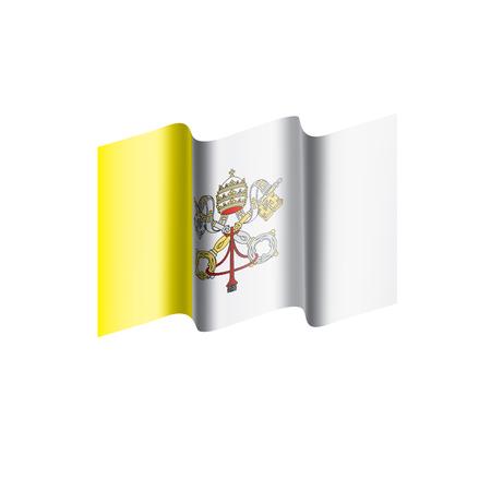 Vatican flag illustration on white background.
