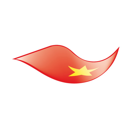 Vietnam flag illustration on white background.