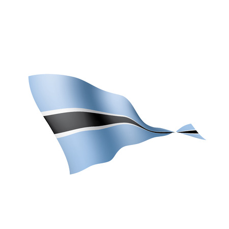 Botswana flag, vector illustration on a white background