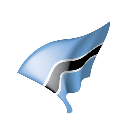 Botswana flag illustration on white background. Vektorové ilustrace